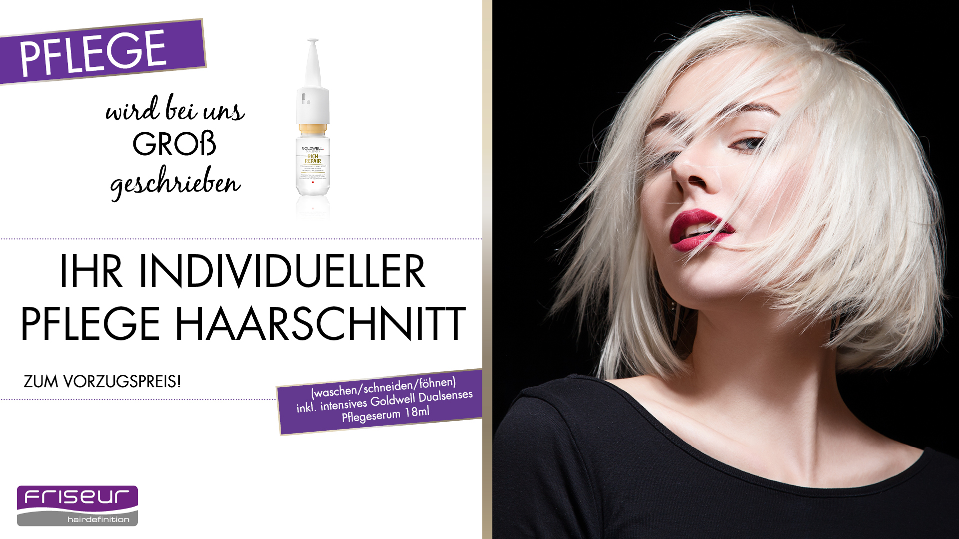 Friseur Hairdefinition Goldwell Aktion