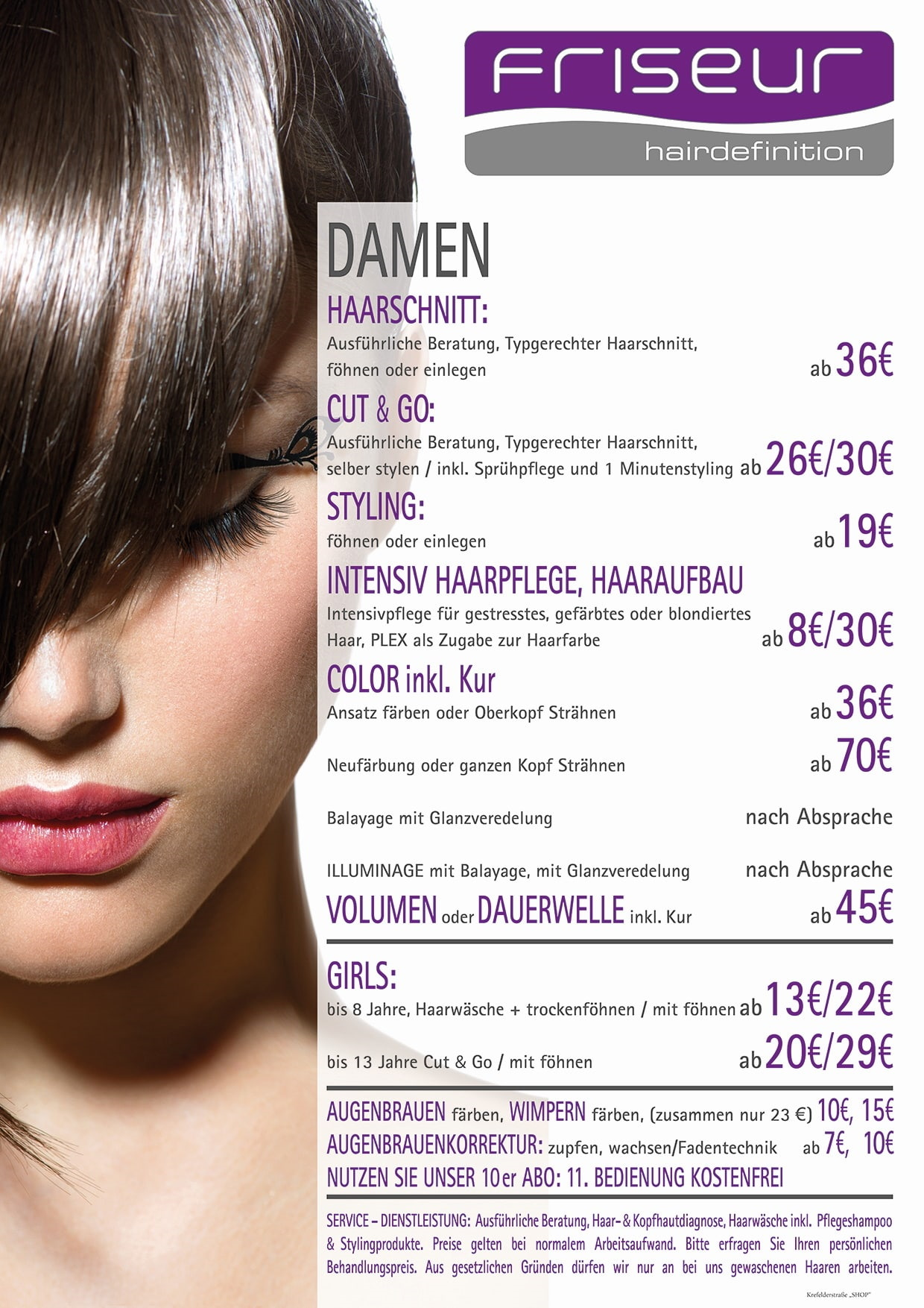 frieseur hairdefinition krefelderstraße shop damen 29.04.2020